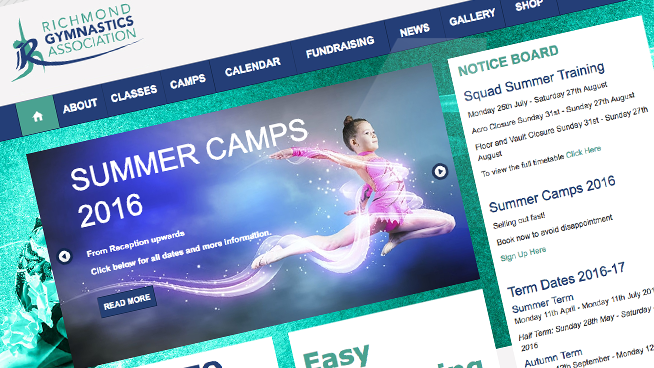 Web design for sports clubs and associations